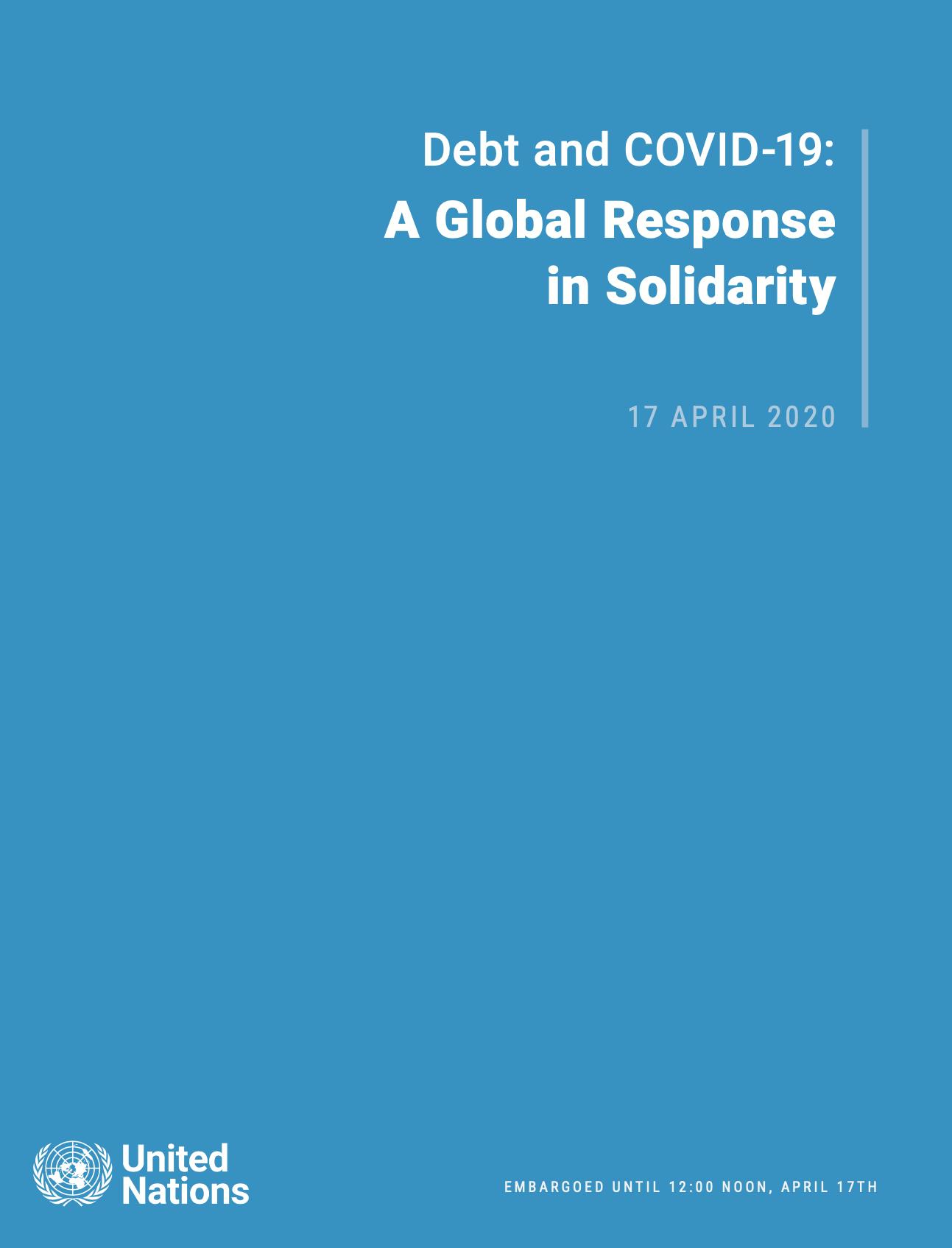 Deuda y COVID-19: una respuesta global en solidaridad