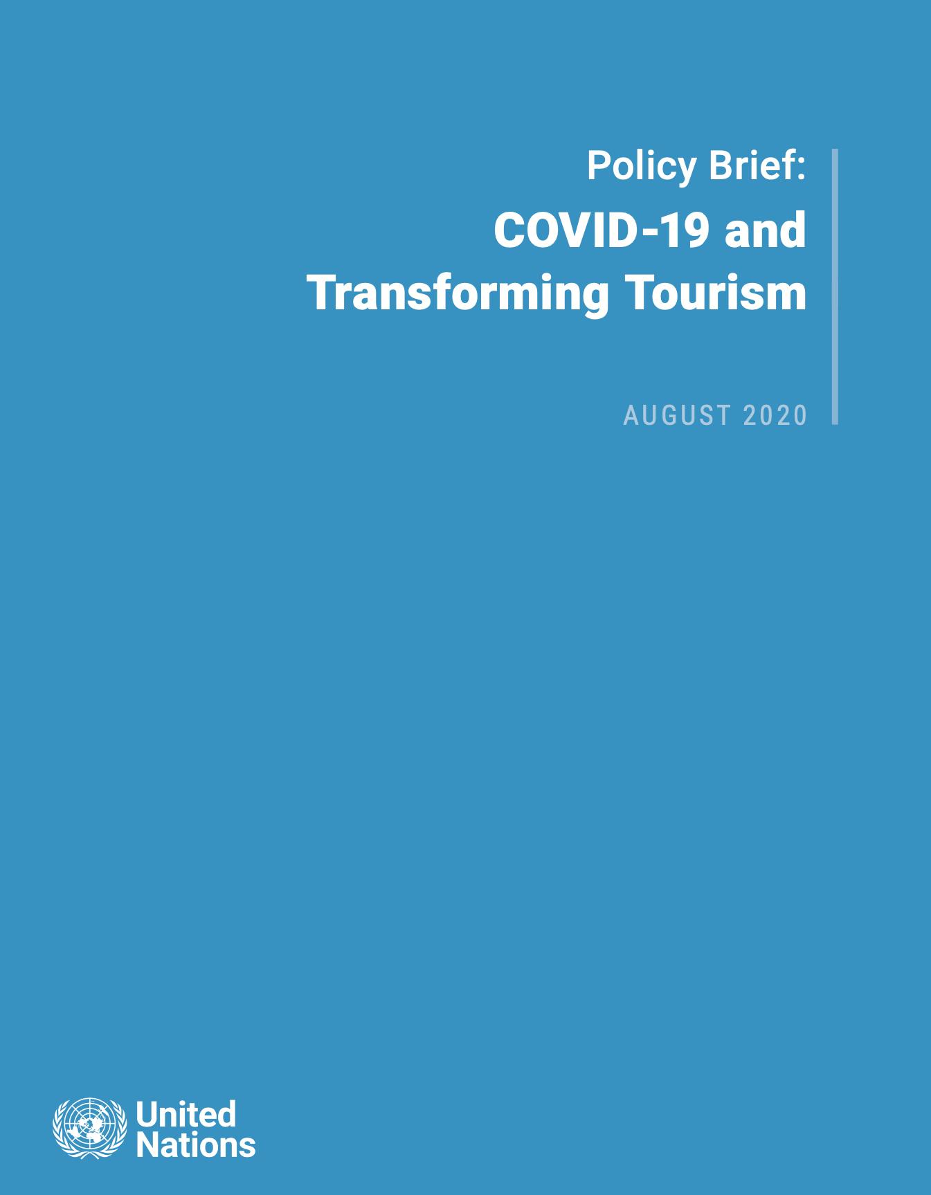 Informe de política del Secretario General: COVID-19 y transformando el turismo