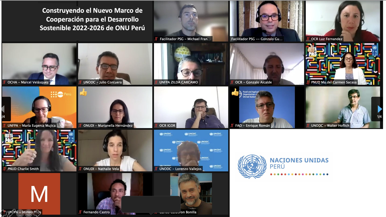 Construyendo el Nuevo Marco de Cooperación para el Desarrollo Sostenible 2022-2026 de ONU Perú