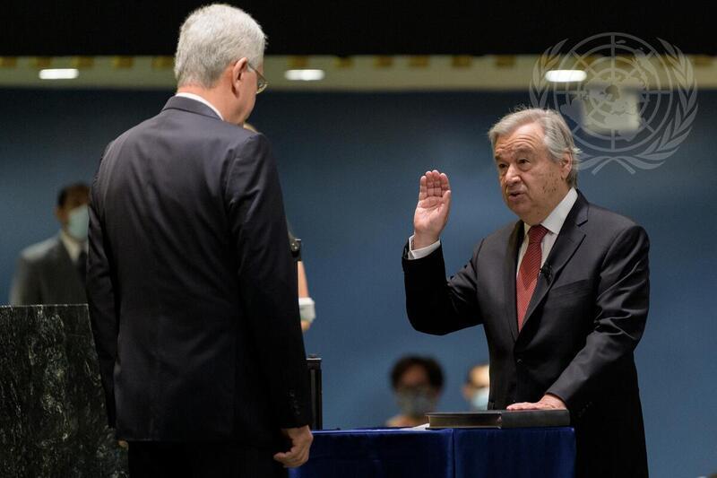 António Guterres ha sido nombrado por aclamación Secretario General de la ONU para un segundo mandato