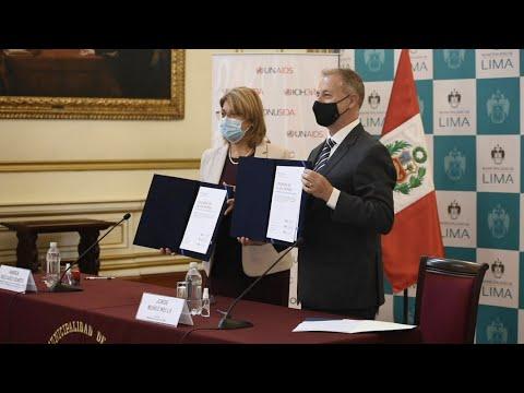 En Día del Sida, Municipalidad de Lima firma Declaración de París